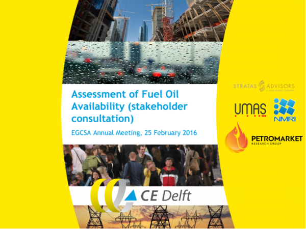 Assessment of Fuel Oil Availability